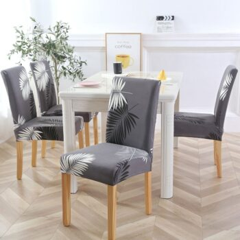 White Printed Dining Chair Covers 14 Chair And Sofa Covers