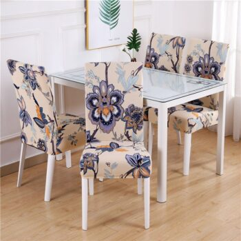 White Printed Dining Chair Covers 26 Chair And Sofa Covers