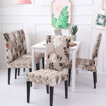 White Printed Dining Chair Covers 30 Chair And Sofa Covers
