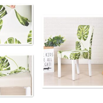 White Printed Dining Chair Covers 11 Chair And Sofa Covers
