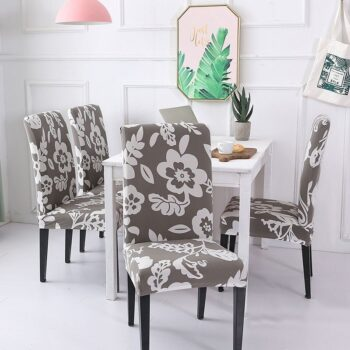 White Printed Dining Chair Covers 33 Chair And Sofa Covers