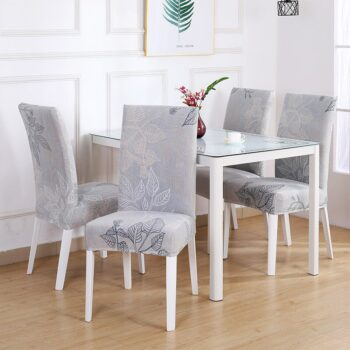 White Printed Dining Chair Covers 15 Chair And Sofa Covers