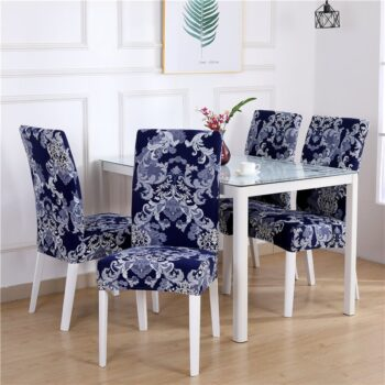 White Printed Dining Chair Covers 20 Chair And Sofa Covers