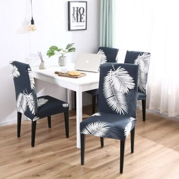 White Printed Dining Chair Covers 31 Chair And Sofa Covers