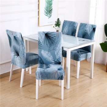 White Printed Dining Chair Covers 21 Chair And Sofa Covers