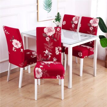 White Printed Dining Chair Covers 24 Chair And Sofa Covers