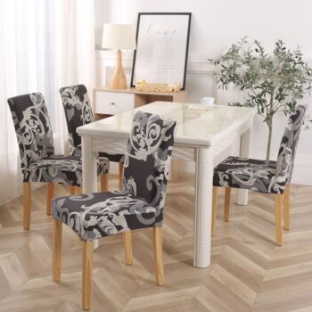 White Printed Dining Chair Covers 27 Chair And Sofa Covers