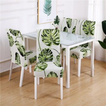White Printed Dining Chair Covers 23 Chair And Sofa Covers