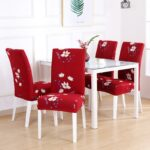 White Printed Dining Chair Covers 1 Chair And Sofa Covers
