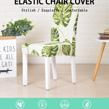 White Printed Dining Chair Covers 8 Chair And Sofa Covers