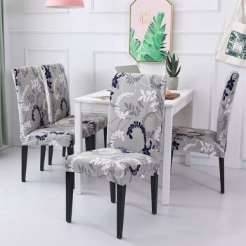White Printed Dining Chair Covers 28 Chair And Sofa Covers