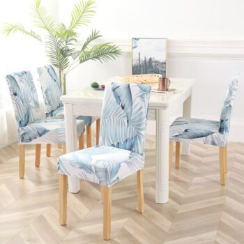 White Printed Dining Chair Covers 32 Chair And Sofa Covers
