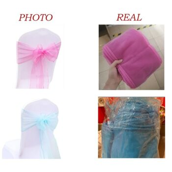 1 Pc Organza Bow For Banquet Chairs 7 Chair And Sofa Covers