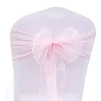 1 Pc Organza Bow For Banquet Chairs 11 Chair And Sofa Covers