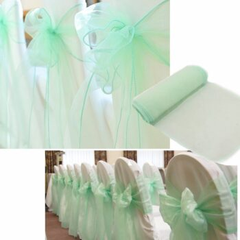 Wedding Organza Symmetry Sash For Party Chairs 13 Chair And Sofa Covers