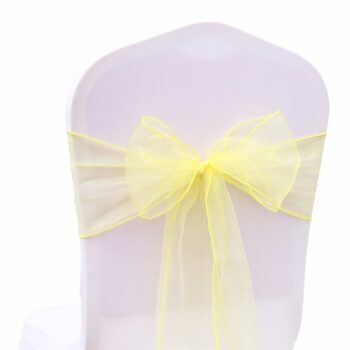 Wedding Organza Symmetry Sash For Party Chairs 8 Chair And Sofa Covers