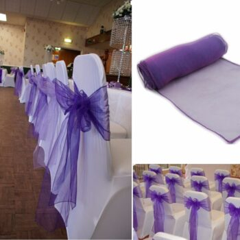Wedding Organza Symmetry Sash For Party Chairs 12 Chair And Sofa Covers