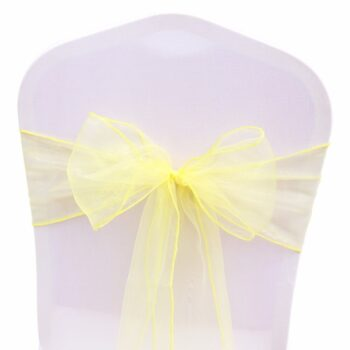 Wedding Organza Symmetry Sash For Party Chairs 10 Chair And Sofa Covers