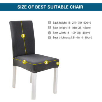 Spandex Black Chair Cover For Dining Room 8 Chair And Sofa Covers