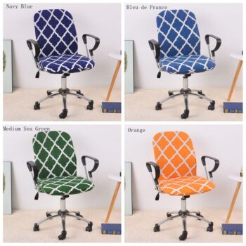 Spandex Printed Computer Chair Cover - Office Chair Cover 2 Pieces Set 20 Chair And Sofa Covers
