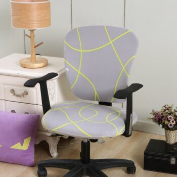 Spandex Printed Computer Chair Cover - Office Chair Cover 2 Pieces Set 18 Chair And Sofa Covers