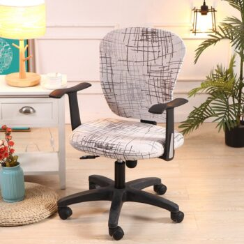 Spandex Printed Computer Chair Cover - Office Chair Cover 2 Pieces Set 14 Chair And Sofa Covers