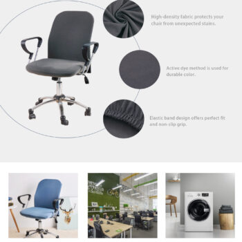Spandex Printed Computer Chair Cover - Office Chair Cover 2 Pieces Set 19 Chair And Sofa Covers