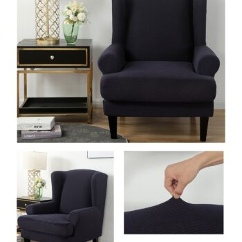 Velvet Couch Slipcover For Wingback Chairs 5 Chair And Sofa Covers