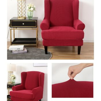 Velvet Couch Slipcover For Wingback Chairs 9 Chair And Sofa Covers