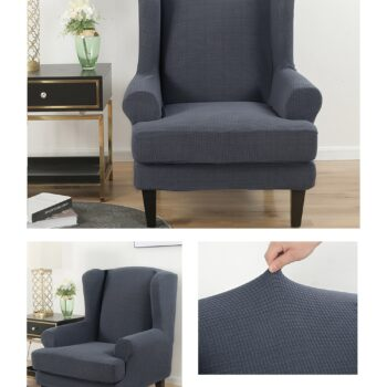 Velvet Couch Slipcover For Wingback Chairs 8 Chair And Sofa Covers