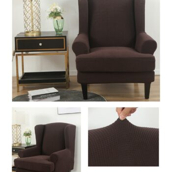 Velvet Couch Slipcover For Wingback Chairs 6 Chair And Sofa Covers