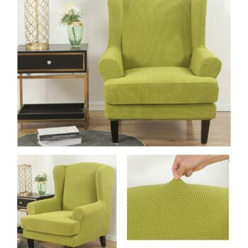 Velvet Couch Slipcover For Wingback Chairs 12 Chair And Sofa Covers