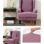 Velvet Couch Slipcover For Wingback Chairs 1 Chair And Sofa Covers
