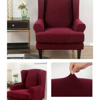 Velvet Couch Slipcover For Wingback Chairs 10 Chair And Sofa Covers