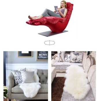 Soft Artificial Sheepskin Rug Chair Cover 15 Chair And Sofa Covers