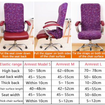 Stretchable Waterproof Spandex Office Chair Covers 11 Chair And Sofa Covers