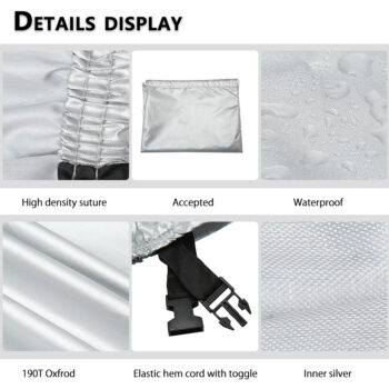 Waterproof Patio Swing Canopy Cover Replacement For 3-Seater Garden Swing 13 Chair And Sofa Covers