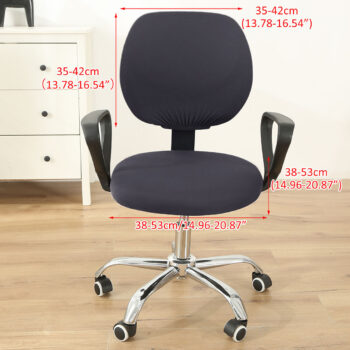 Stretchable Armchair Anti-Dust Covers - Office Computer Chair Covers 42 Chair And Sofa Covers