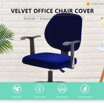 Velvet Chair Cover For Office Armchair 7 Chair And Sofa Covers