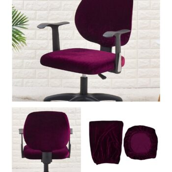 Velvet Chair Cover For Office Armchair 16 Chair And Sofa Covers
