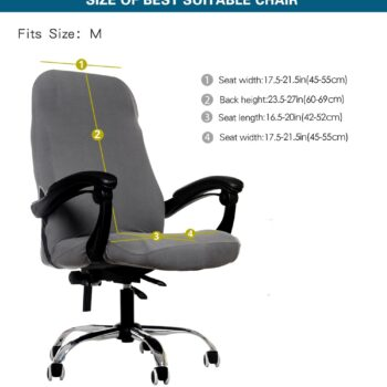 Water Resistant Jacquard Computer Chair Cover 10 Chair And Sofa Covers