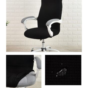 Water Resistant Jacquard Computer Chair Cover 14 Chair And Sofa Covers