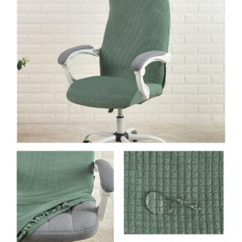 Water Resistant Jacquard Computer Chair Cover 19 Chair And Sofa Covers