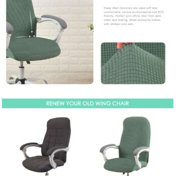 Water Resistant Jacquard Computer Chair Cover 9 Chair And Sofa Covers