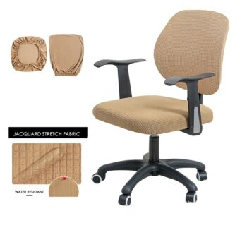 Water Resistant Jacquard Computer Chair Cover 30 Chair And Sofa Covers