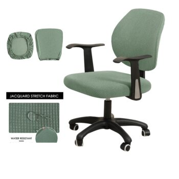 Water Resistant Jacquard Computer Chair Cover 29 Chair And Sofa Covers