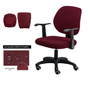 Water Resistant Jacquard Computer Chair Cover 32 Chair And Sofa Covers