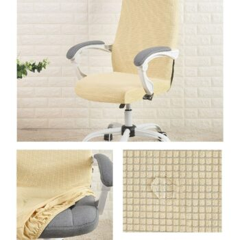 Water Resistant Jacquard Computer Chair Cover 18 Chair And Sofa Covers