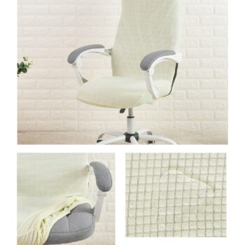 Water Resistant Jacquard Computer Chair Cover 17 Chair And Sofa Covers