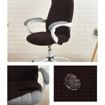 Water Resistant Jacquard Computer Chair Cover 16 Chair And Sofa Covers